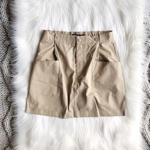 Sand mini skirt with pockets